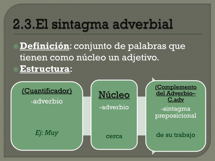 2.3.El sintagma adverbial