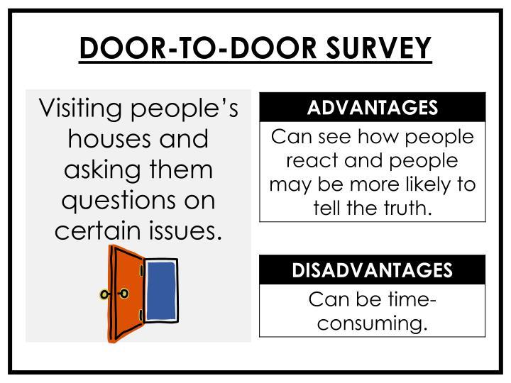 DOOR-TO-DOOR SURVEY