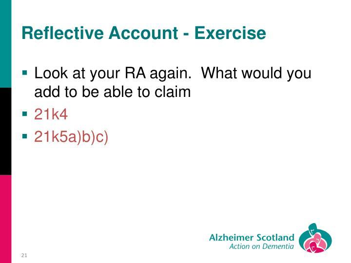 Reflective Account - Exercise