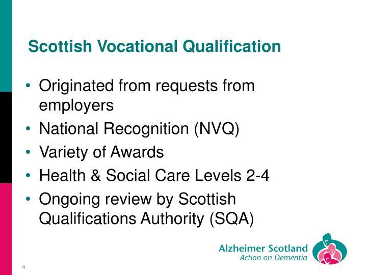 Scottish Vocational Qualification