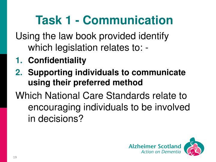 Task 1 - Communication