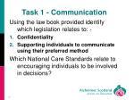 task 1 communication