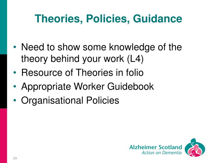 Theories, Policies, Guidance