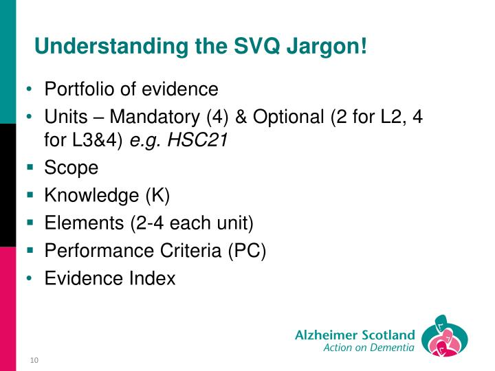 Understanding the SVQ Jargon!