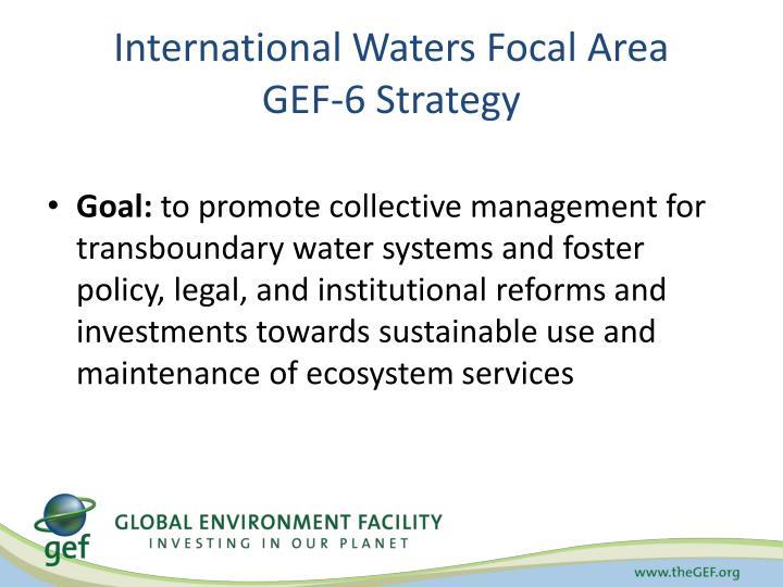 International Waters Focal Area