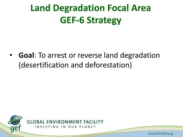 Land Degradation Focal Area