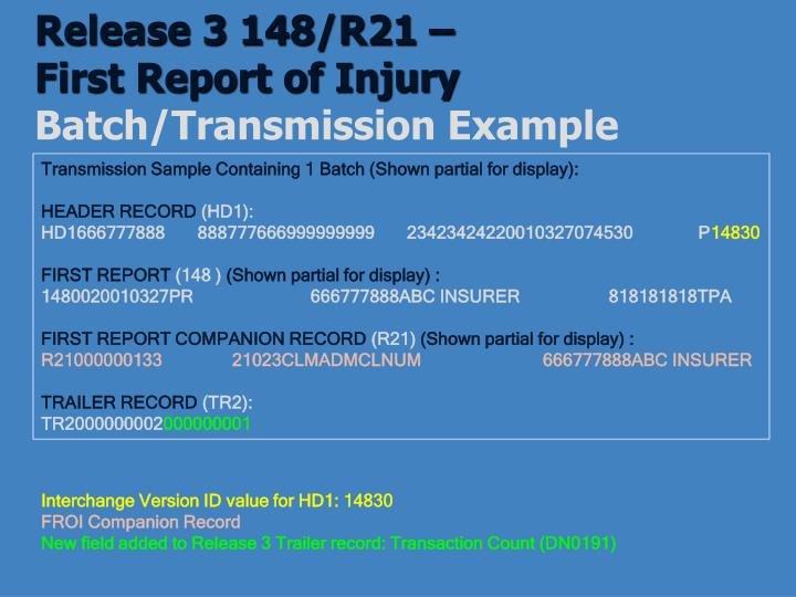 Release 3 148/R21 –