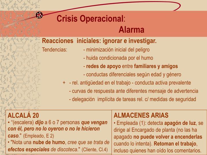 Crisis Operacional