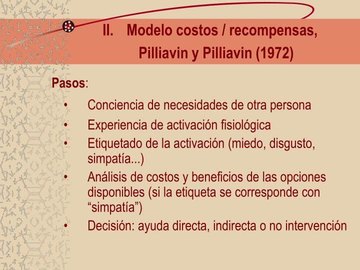 Modelo costos / recompensas,
