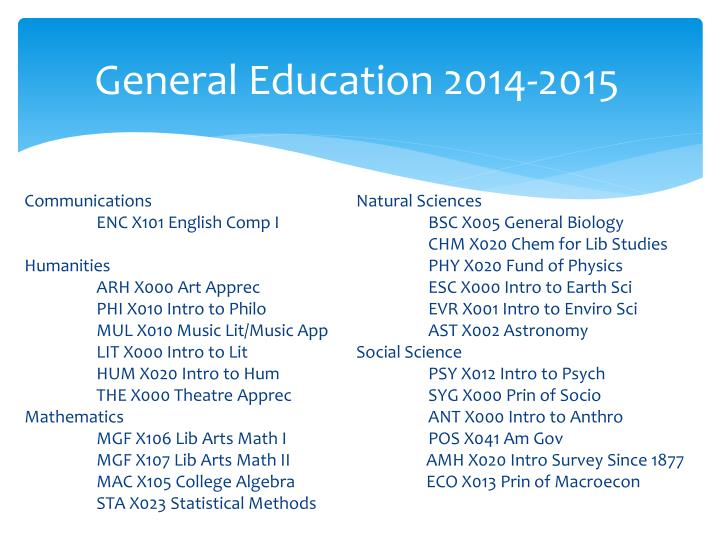 General Education 2014-2015