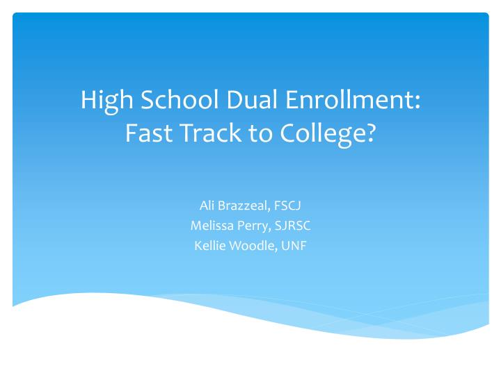High school dual enrollment fast track to college
