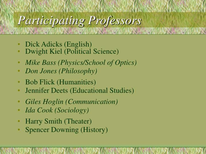 Participating professors