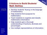 9 actions to build students math abilities