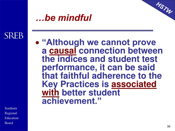 …be mindful