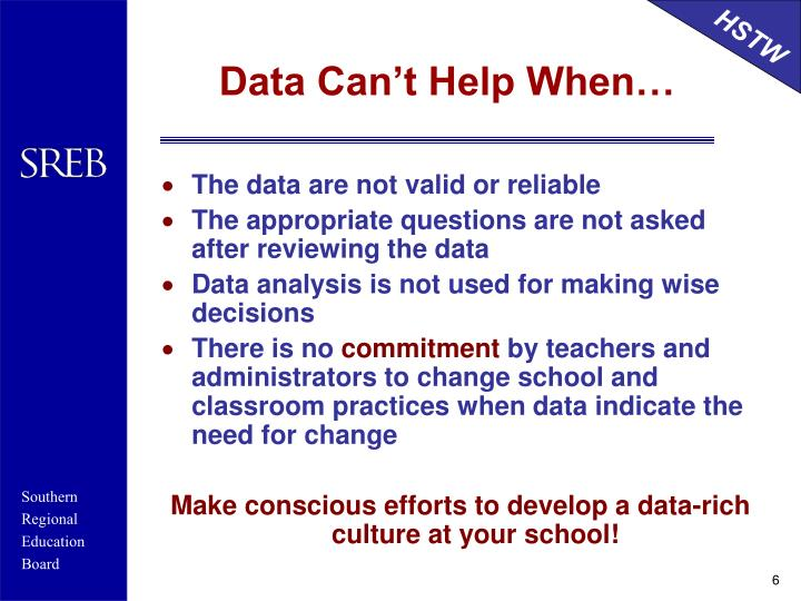 Data Can't Help When…