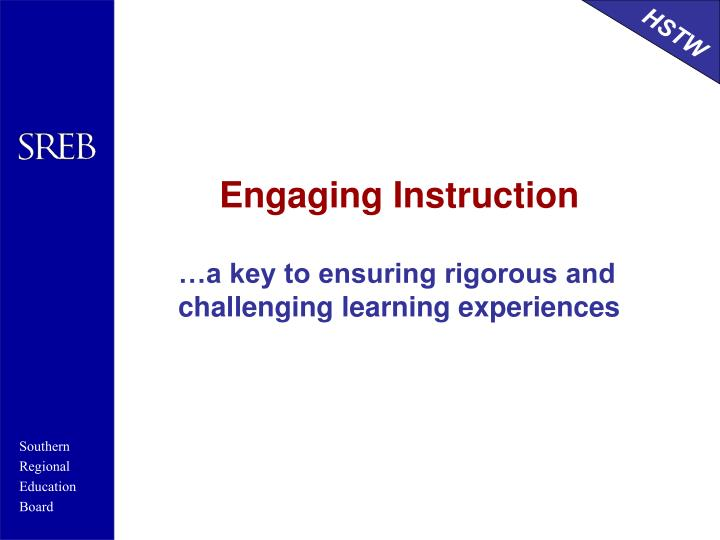 Engaging Instruction