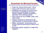 essentials for moving forward