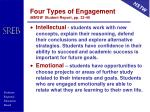 four types of engagement mmgw student report pp 33 40