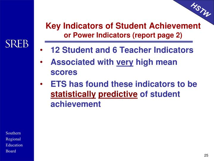 Key Indicators of Student Achievement