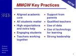 mmgw key practices