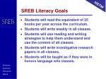 sreb literacy goals