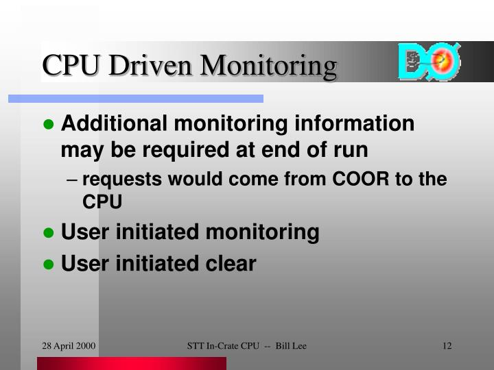 CPU Driven Monitoring