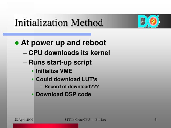 Initialization Method