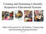 creating and sustaining culturally responsive educational systems