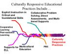 culturally responsive educational practices include
