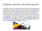 culturally responsive educational systems