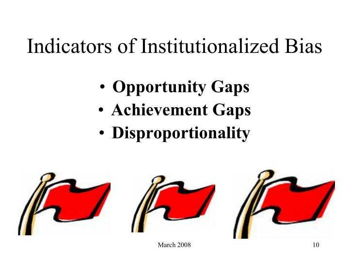 Indicators of Institutionalized Bias
