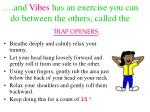 and vibes has an exercise you can do between the others called the