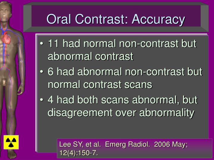Oral Contrast: Accuracy