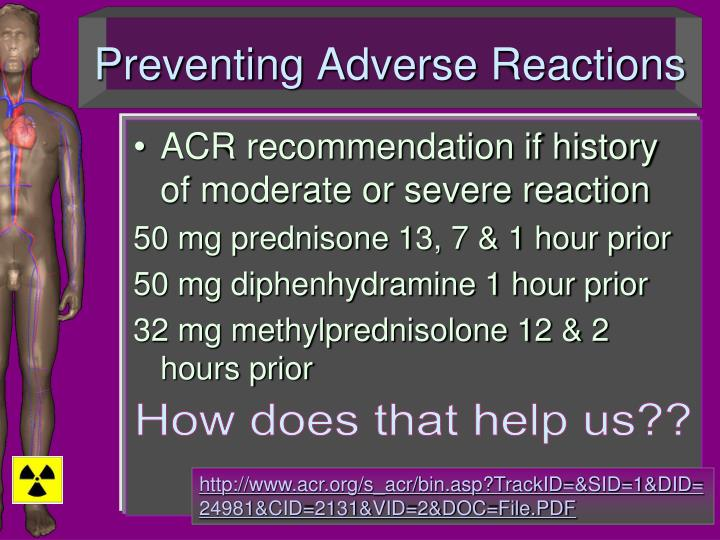 Preventing Adverse Reactions