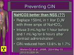 preventing cin1