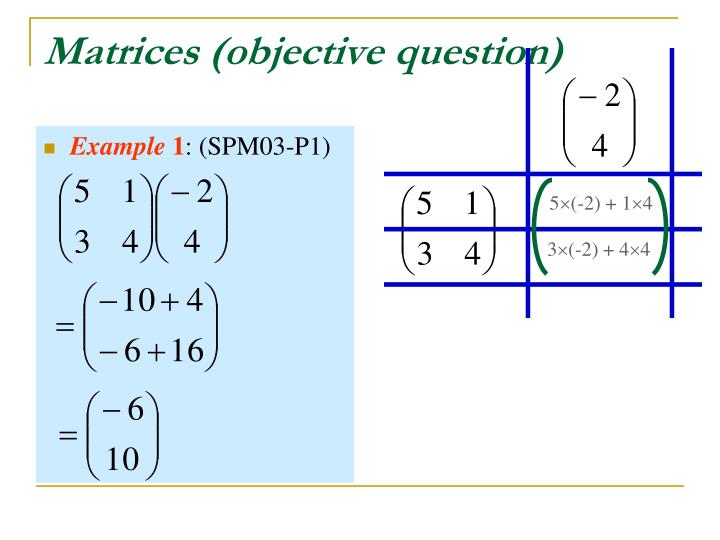 Matrices (objective question)
