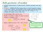solis geometry 4 marks