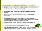 congregate nutrition standards cont d