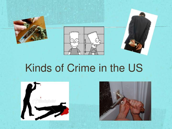 Kinds of Crime in the US