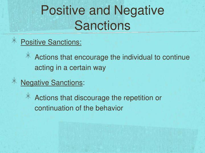 Positive and Negative Sanctions