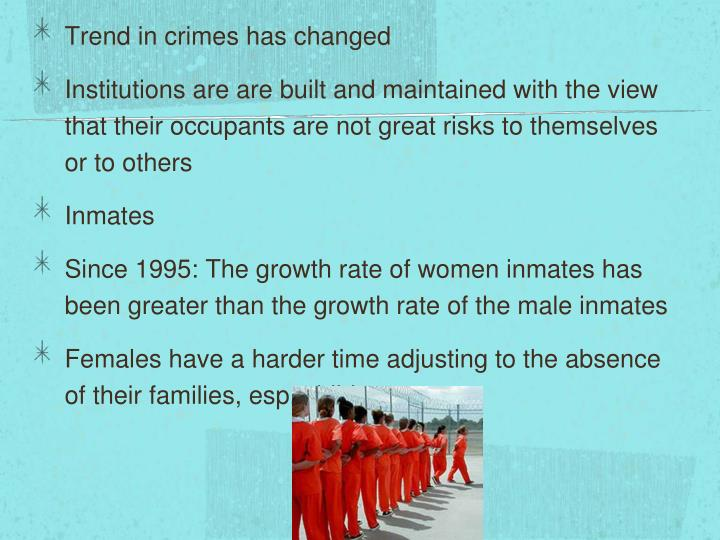 Trend in crimes has changed