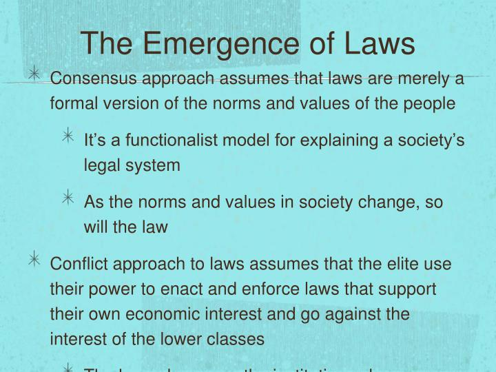 The Emergence of Laws