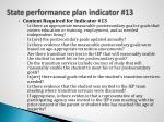 state performance plan indicator 13