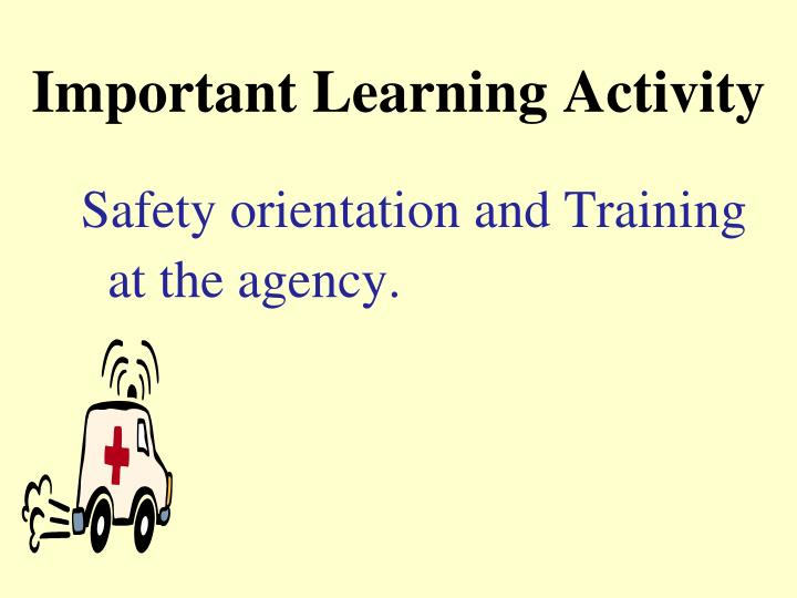 Important Learning