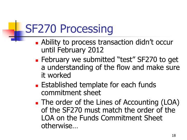 SF270 Processing