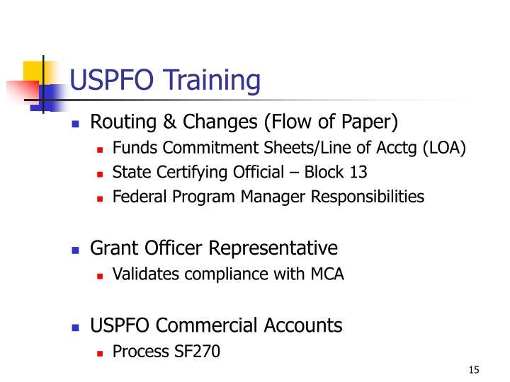 USPFO Training