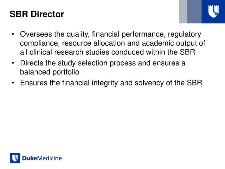 SBR Director
