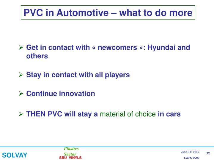 PVC in Automotive – what to do more