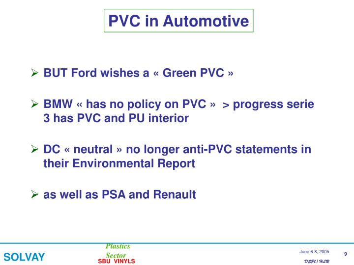 PVC in Automotive
