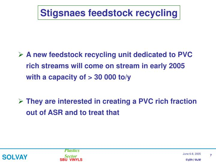 Stigsnaes feedstock recycling